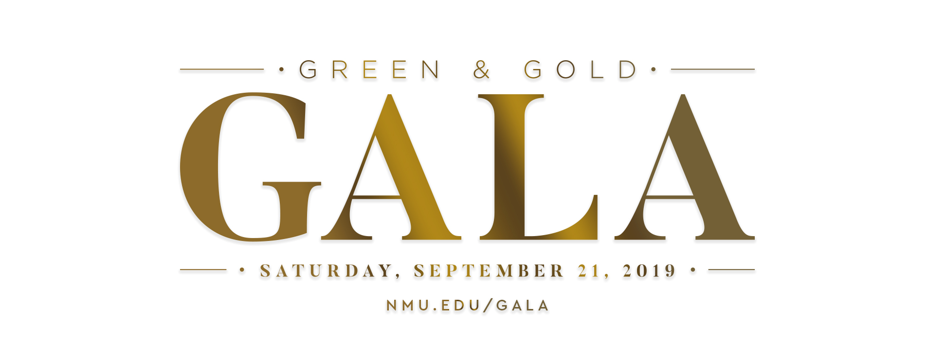 Green & Gold Gala - Saturday, September 21, 2019 - nmu.edu/gala